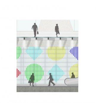 Daniel Buren Tottenham Court Road Tube Station Artwork For 2016 Aaj Press