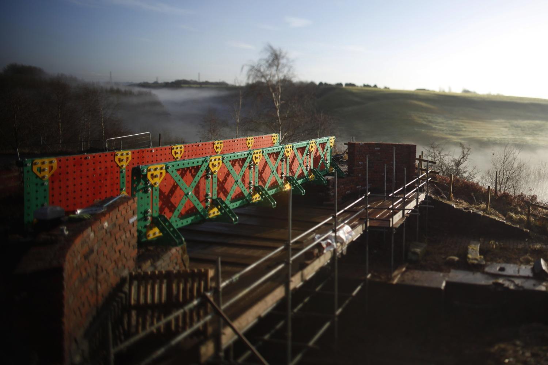 Liam Curtin Meccano Bridge Bolton Aaj Press