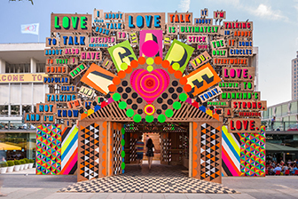 Temple of Agape: Morag Myerscough & Luke Morgan. Festival of Love, Southbank Centre, London