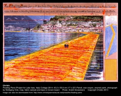 christo the floating piers lake iseo italy