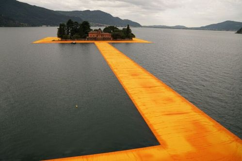 Christo. The Floating Piers, Project for Lake Iseo, Italy 2016