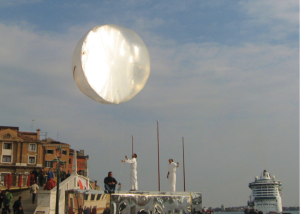My Sunshine, Venice, 3482; 2009; photo documentation of live art event during Venice Biennial, Macedonian Pavilion 2009