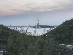 The hills on Governors Island. photo Timothy Schenk