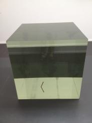 Ai Weiwei, Crystal cube, 2014, Leaded Glass, 100 x 100 x 100 cm