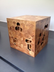 Ai Weiwei, Treasure Box, 2014, Huali wood, 100 x 100 x 100 cm