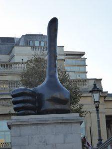 David Shrigley. Really Good Trafalgar Square London October 2016