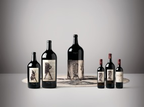 Ornellaia 2015 Il Carisma_Vendemmia d'Artista_Group of bottles